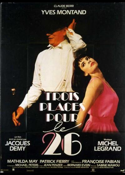 affiche du film TROIS PLACES POUR LE 26