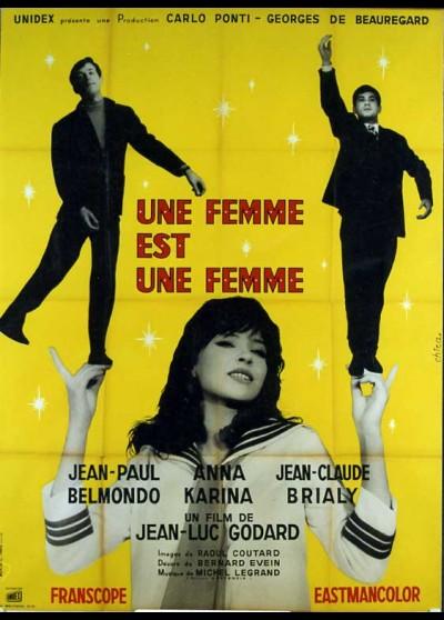 affiche du film UNE FEMME EST UNE FEMME