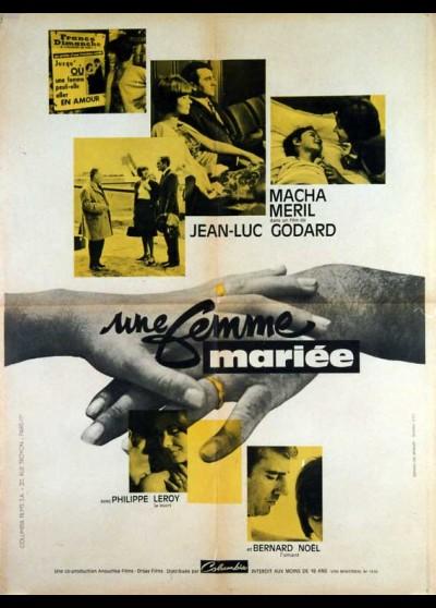 affiche du film UNE FEMME MARIEE