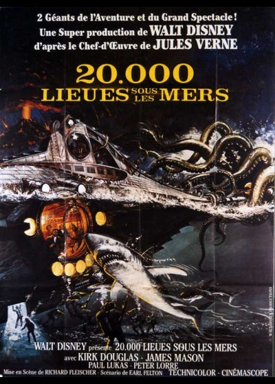 20000 LEAGUES UNDER THE SEAS movie poster