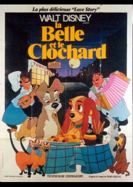 affiche du film BELLE ET LE CLOCHARD (LA)