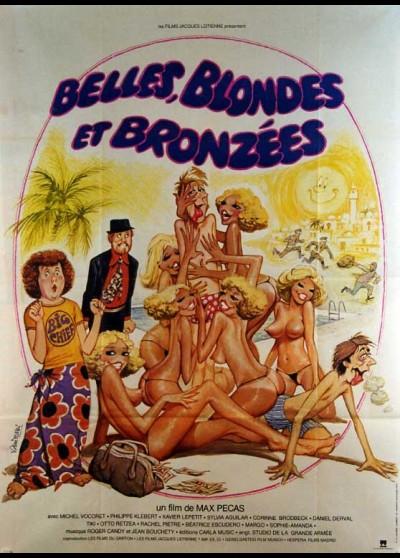 affiche du film BELLES BLONDES ET BRONZEES