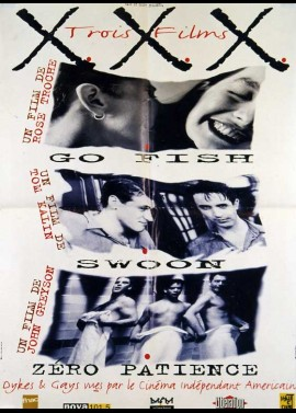 XXX GO FISH / SWOON / ZERO PATIENCE movie poster