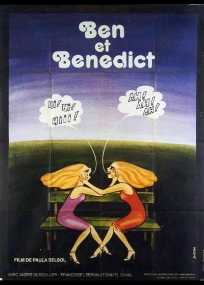 affiche du film BEN ET BENEDICT
