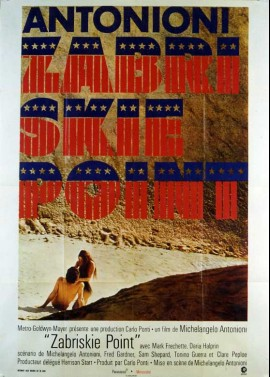 ZABRISKIE POINT movie poster