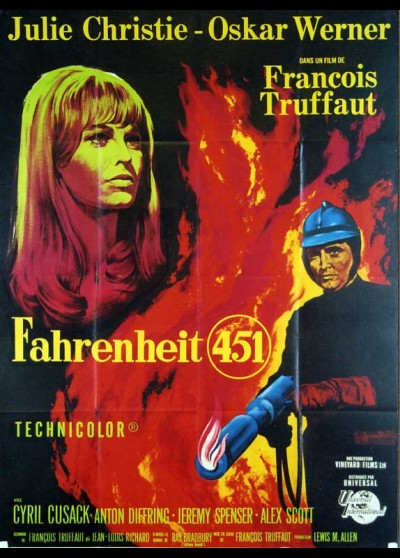 FAHRENHEIT 451 movie poster