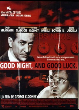 affiche du film GOOD NIGHT AND GOOD LUCK