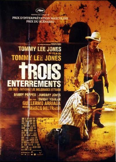 affiche du film TROIS ENTERREMENTS