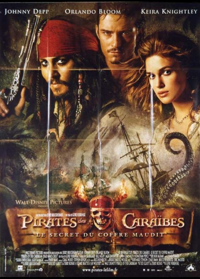 PIRATES OF THE CARIBBEAN DEAD MAN'S CHEST movie poster