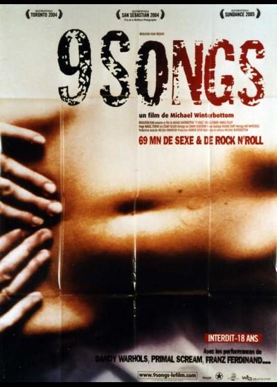 affiche du film NINE SONGS