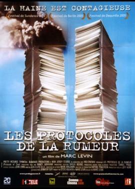 affiche du film PROTOCOLES DE LA RUMEUR (LES)