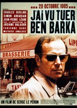 affiche du film J'AI VU TUER BEN BARKA