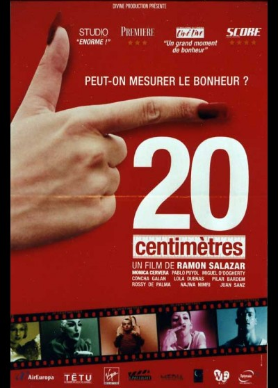 20 CENTIMETROS movie poster