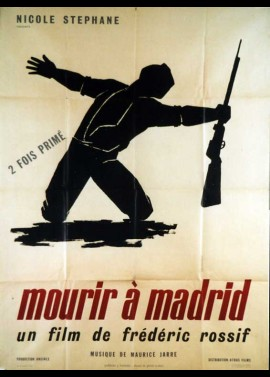 affiche du film MOURIR A MADRID