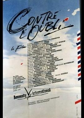 affiche du film CONTRE L'OUBLI