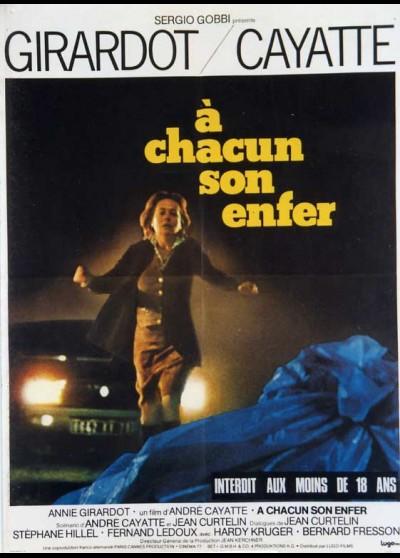 affiche du film A CHACUN SON ENFER