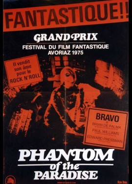 PHANTOM OF THE PARADISE movie poster