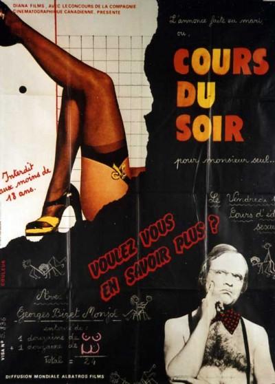 COURS DU SOIR POUR MONSIEUR SEUL movie poster