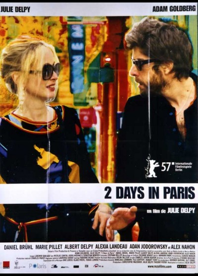 2 DAYS IN PARIS / TWO DAYS IN PARIS movie poster