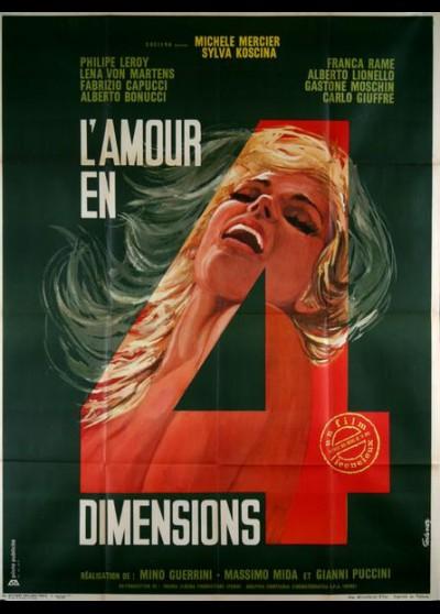 affiche du film AMOUR EN QUATRE DIMENSIONS (L')