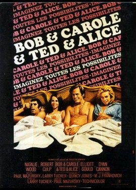 BOB AND CAROL AND TED AND ALICE movie poster