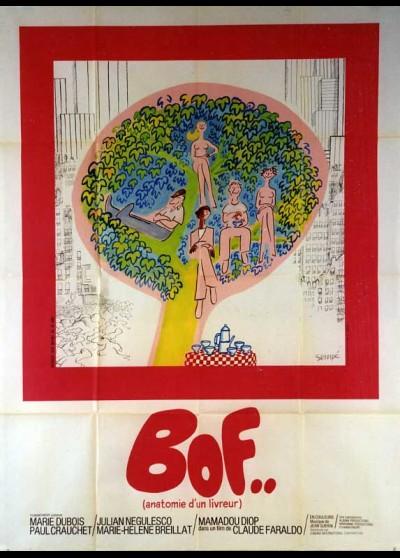 affiche du film BOF ANATOMIE D'UN LIVREUR