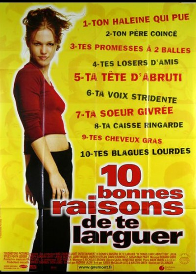 10 THINGS I HATE ABOUT YOU / TEN THINGS I HATE FROM YOU movie poster