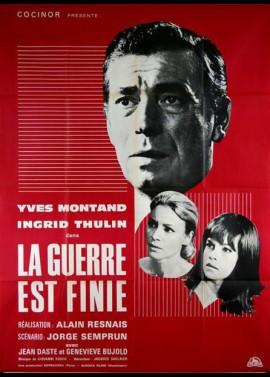 affiche du film GUERRE EST FINIE (LA)