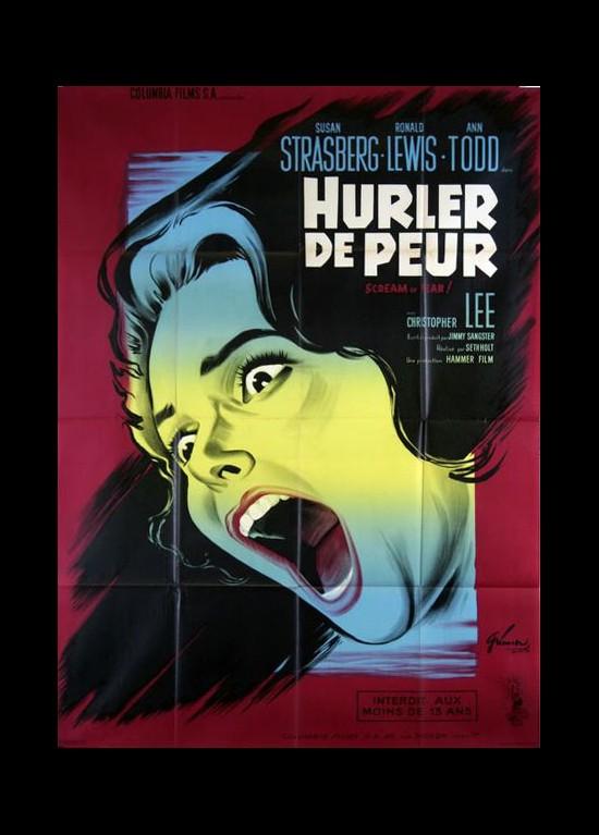 affiche HURLER DE PEUR Seth Holt - CINESUD affiches cinéma