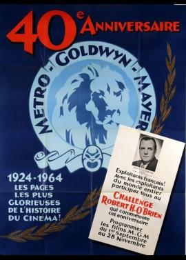 affiche du film METRO GOLDWIN MAYER 40 EME ANNIVERSAIRE 1924 - 1964