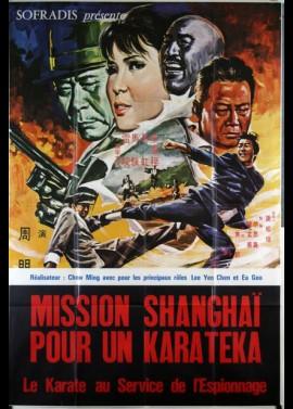affiche du film MISSION SHANGHAI POUR UN KARATEKA