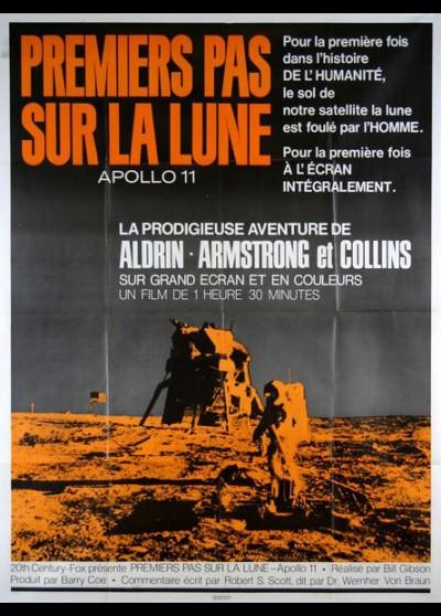 affiche du film PREMIERS PAS SUR LA LUNE APOLLO 11