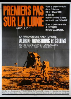 FOOTPRINTS ON THE MOON APOLLO 11 movie poster