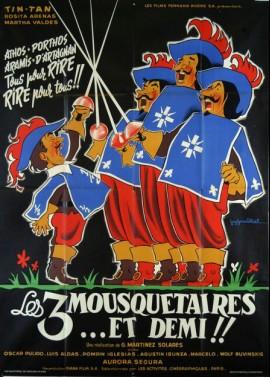 affiche du film TROIS MOUSQUETAIRES ET DEMI (LES)
