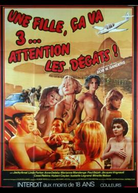 UNE FILLE CA VA TROIS ATTENTION LES DEGATS movie poster
