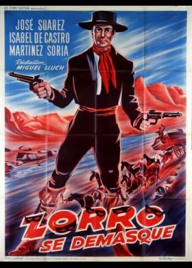 affiche du film ZORRO SE DEMASQUE