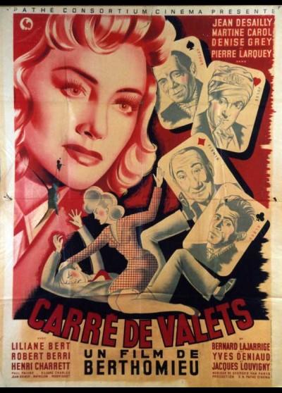 affiche du film CARRE DE VALETS