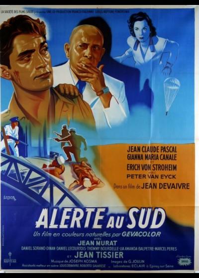 ALERTE AU SUD movie poster