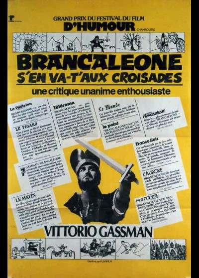 BRANCALEONE ALLE CROCIATE movie poster