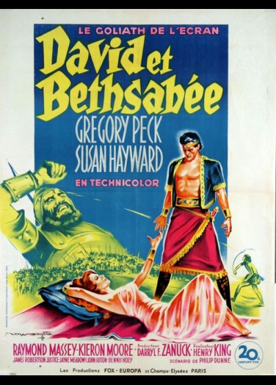 DAVID AND BETHSHEBA movie poster