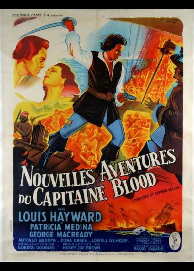 FORTUNES OF CAPTAIN BLOOD movie poster