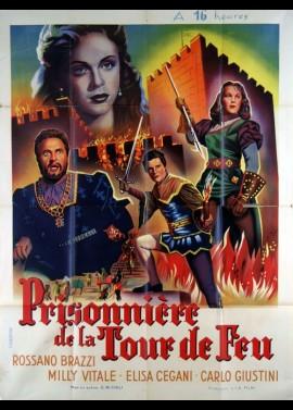 affiche du film PRISONNIERE DE LA TOUR DE FEU