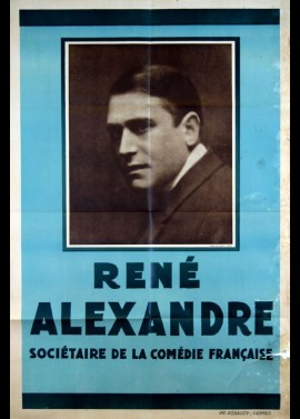 affiche du film RENE ALEXANDRE SOCIETAIRE DE LA COMEDIE FRANCAISE