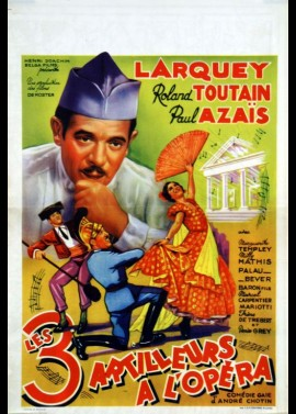 TROIS ARTILLEURS A L'OPERA movie poster