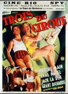 affiche du film TROIS DU CIRQUE