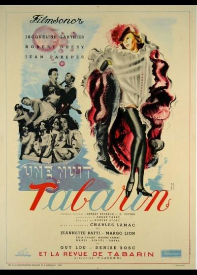 affiche du film UNE NUIT A TABARIN