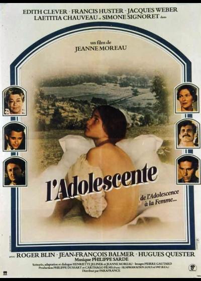 affiche du film ADOLESCENTE (L')