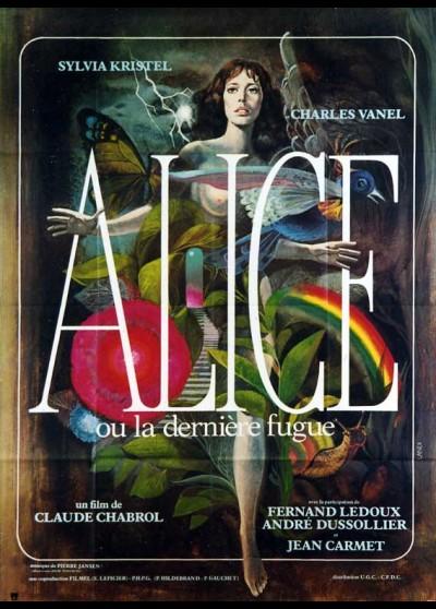 affiche du film ALICE OU LA DERNIERE FUGUE