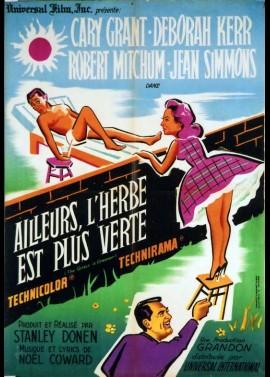 affiche du film AILLEURS L'HERBE EST PLUS VERTE