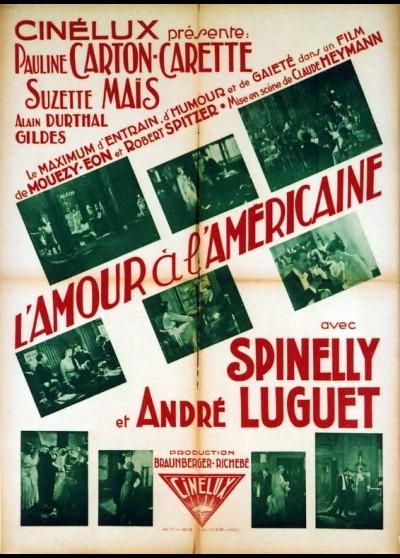 affiche du film AMOUR A L'AMERICAINE (L')